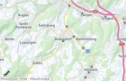 Stadtplan Bubendorf