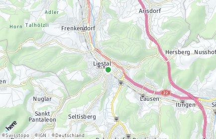 Stadtplan Liestal