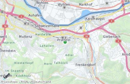 Stadtplan Pratteln