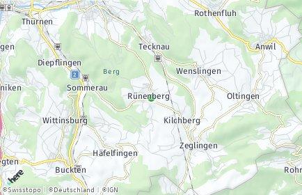 Stadtplan Rünenberg