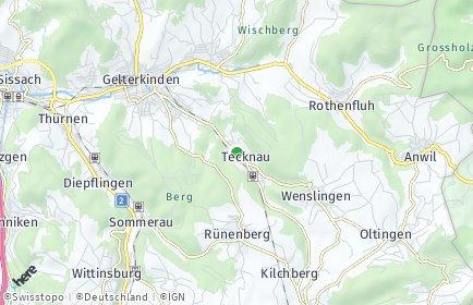 Stadtplan Tecknau