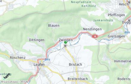 Stadtplan Zwingen