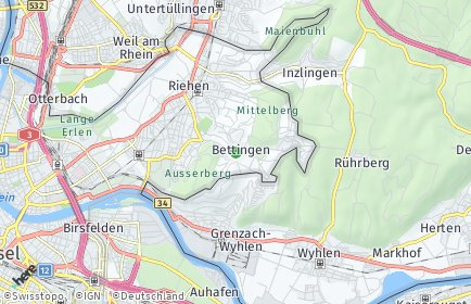 Stadtplan Bettingen