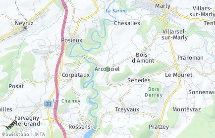 Stadtplan Arconciel