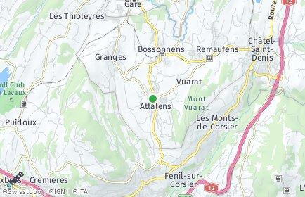 Stadtplan Attalens
