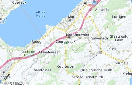 Stadtplan Courgevaux/Gurwolf