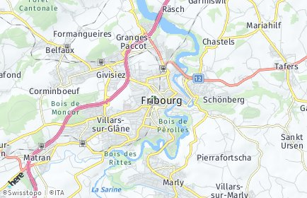 Stadtplan Freiburg im Üechtland (Fribourg)