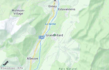 Stadtplan Grandvillard