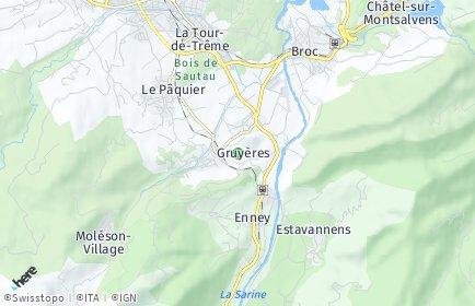 Stadtplan Greyerz/Gruyères