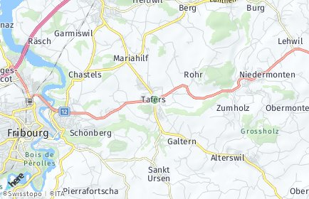 Stadtplan Tafers