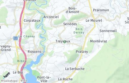 Stadtplan Treyvaux