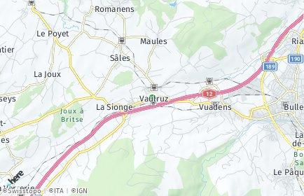 Stadtplan Vaulruz
