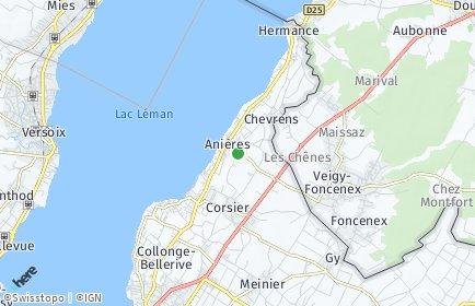 Stadtplan Anières