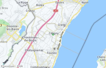 Stadtplan Céligny