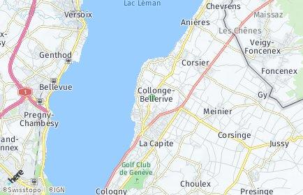 Stadtplan Collonge-Bellerive