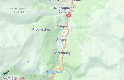 Stadtplan Andeer