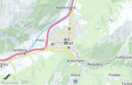 Stadtplan Chur OT Niederlachen-Untere Au