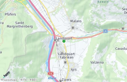 Stadtplan Landquart OT Igis