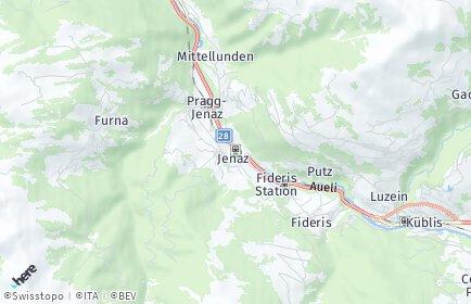 Stadtplan Jenaz OT Pragg-Jenaz