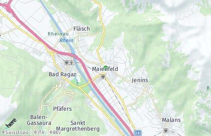 Stadtplan Maienfeld