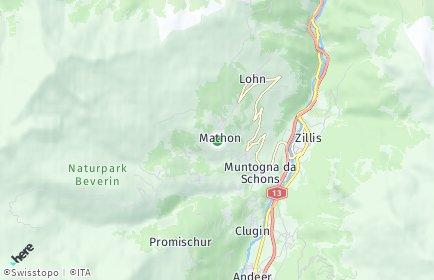 Stadtplan Mathon