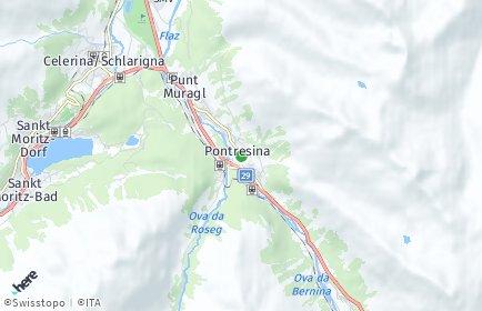Stadtplan Pontresina