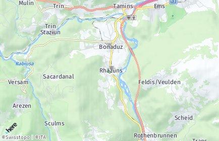 Stadtplan Rhäzüns