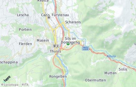 Stadtplan Sils im Domleschg