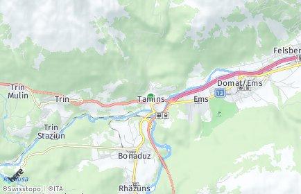 Stadtplan Tamins