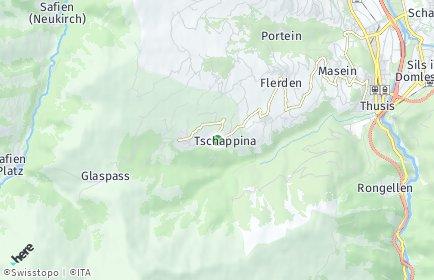 Stadtplan Tschappina