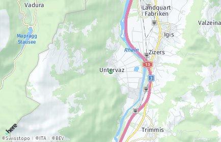 Stadtplan Untervaz
