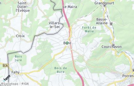 Stadtplan Bure