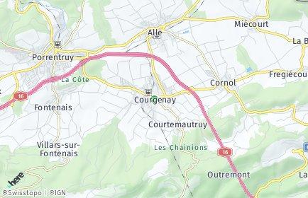 Stadtplan Courgenay