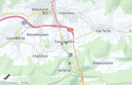 Stadtplan Courrendlin
