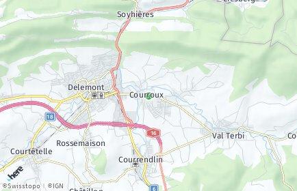 Stadtplan Courroux