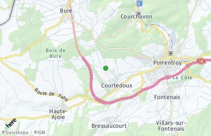 Stadtplan Courtedoux