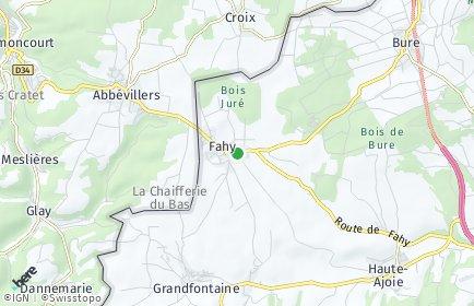 Stadtplan Fahy