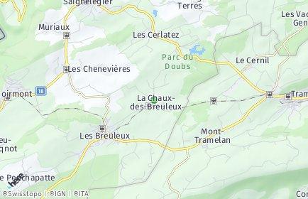 Stadtplan La Chaux-des-Breuleux