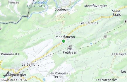 Stadtplan Montfaucon