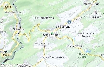 Stadtplan Saignelégier