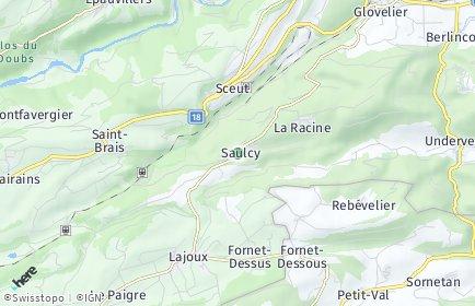 Stadtplan Saulcy