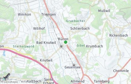Stadtplan Büron
