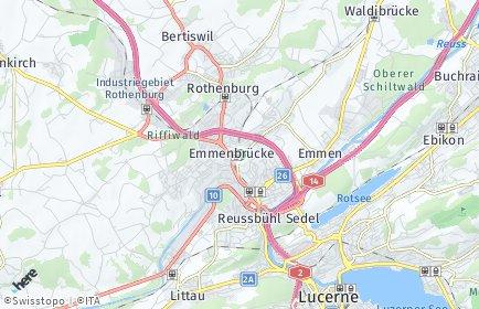 Stadtplan Emmen OT Emmenbrücke