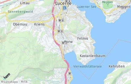 Stadtplan Horw