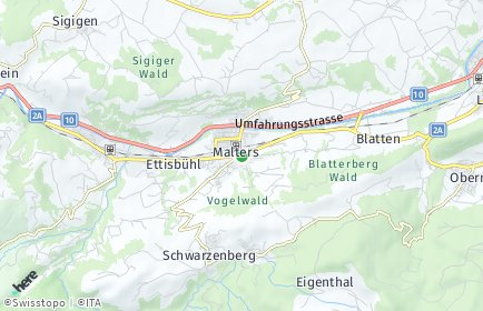 Stadtplan Malters