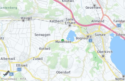 Stadtplan Mauensee