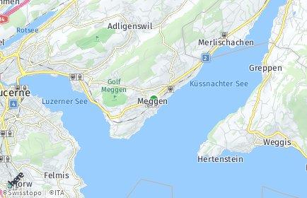Stadtplan Meggen (LU)