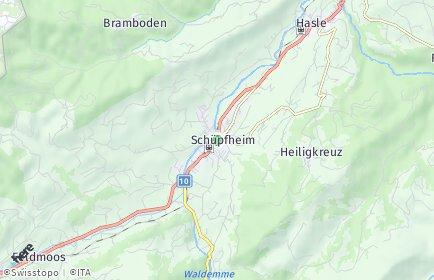 Stadtplan Schüpfheim