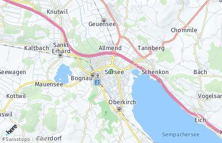 Stadtplan Sursee