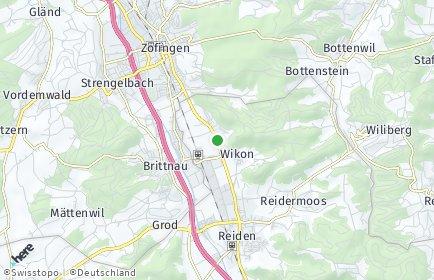 Stadtplan Wikon OT Wikon-Oberdorf